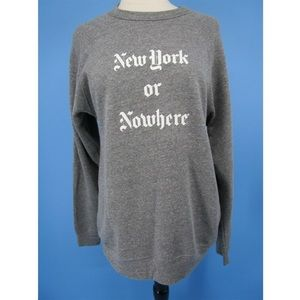 Knowlita New York or Nowhere Sweatshirt Sz M NWT